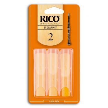 CAÑA RICO TRI-PACK CLARINETE Bb – 3BX – 20